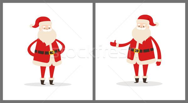 Stockfoto: Ingesteld · verschillend · pose · vector