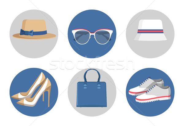 Summer Mode Accessories Set Vector Illustration Stock photo © robuart