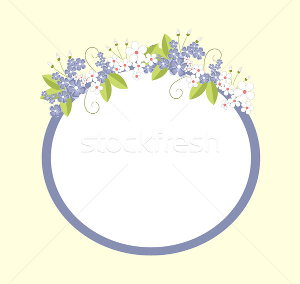 Frame with Flowers in Bloom Vector Illustration Stock photo © robuart