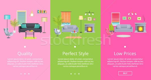 Qualidade perfeito estilo página teia Foto stock © robuart
