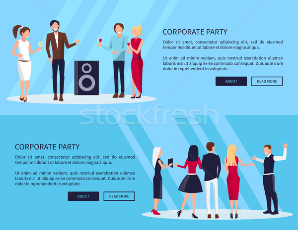 Corporate Party Web Page Vector Illustration Stock photo © robuart