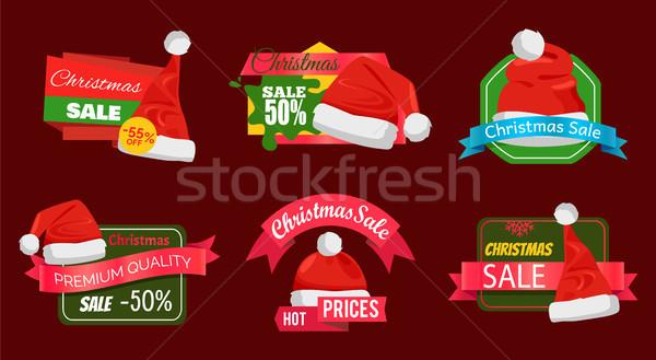 Ingesteld premie kwaliteit half prijs promo Stockfoto © robuart