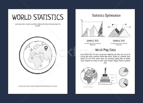 ストックフォト: 世界 · 統計 · 最適化 · バー · 行
