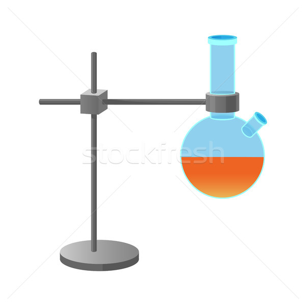 Metal Retort Stand Holding Lab Flask Illustration Stock photo © robuart