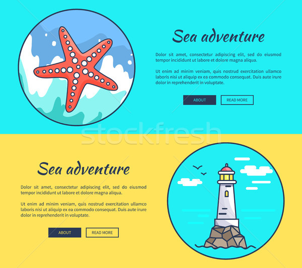 Set of Banners Dedicated to Sea Adventures Stock photo © robuart