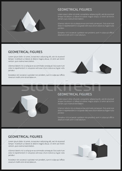 Geometrical Figures Collection Vector Illustration Stock photo © robuart