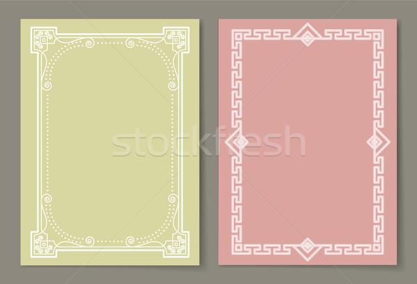 Vignettes Set of Vintage Photo Frames Vector Icons Stock photo © robuart