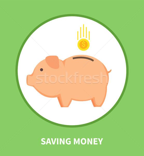 Foto stock: Ahorro · dinero · emblema · cerdo · contenedor