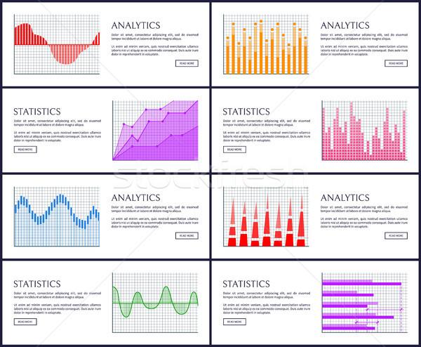 Analitik istatistik ayarlamak Internet büyüyen düşen Stok fotoğraf © robuart