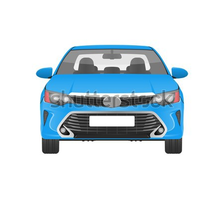 Modern Practical Car in Blue Corpus Front View Stock photo © robuart