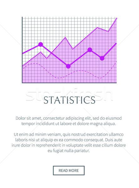 Statistics Data Representation in Form of Graphic Stock photo © robuart