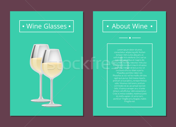 Wine Gasses Poster Place Text Headline About Wine Stock photo © robuart