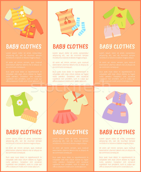 Baby Clothes Collection Text Vector Illustration Stock photo © robuart