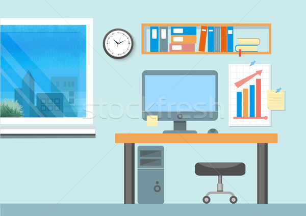 Modern office interior with designer desktop Stock photo © robuart