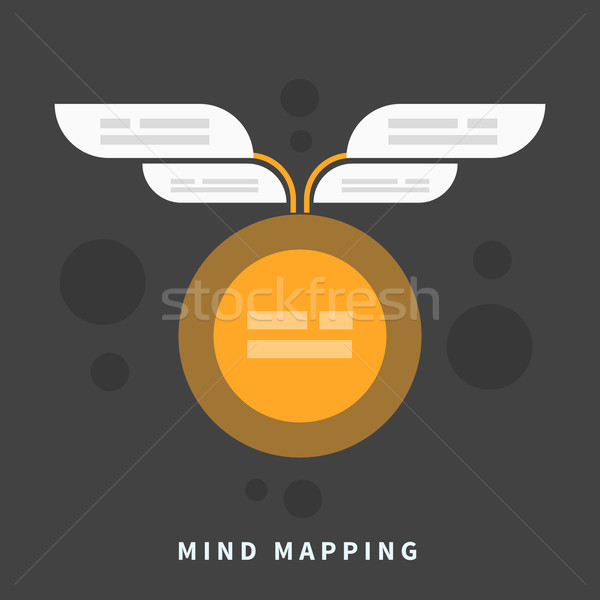 Mind map template with place for your content Stock photo © robuart