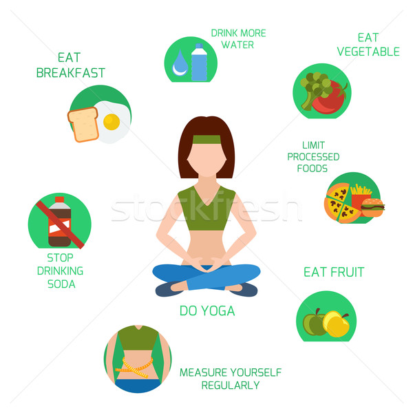 Infographics of main tips for losing weight Stock photo © robuart