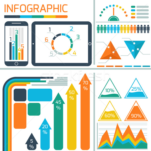 Template infographic for IT technology Stock photo © robuart