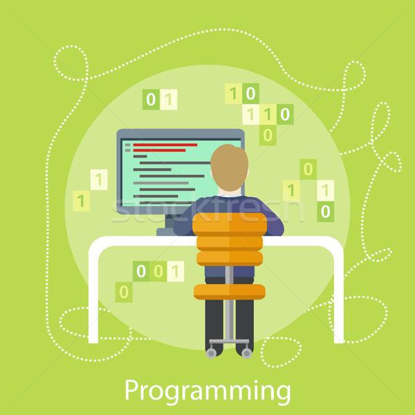プログラマ デジタル 職場 プロ 男性 ストックフォト © robuart
