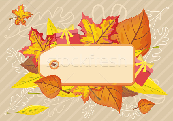Tag Label Template for Autumn Sale Stock photo © robuart