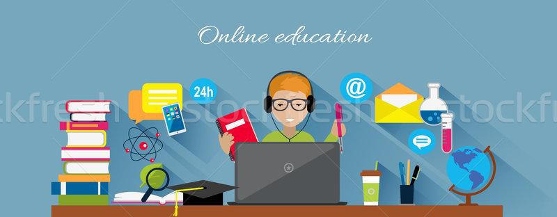 Online Education Flat Design Concept Stock photo © robuart