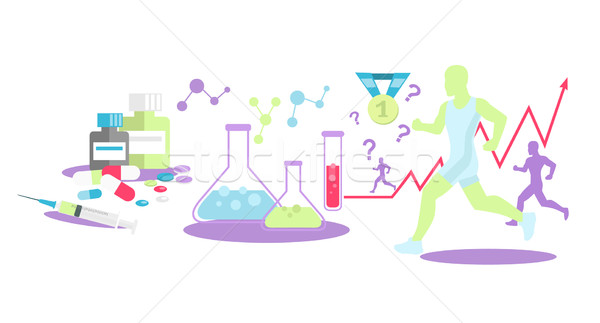 Pharmacology in Sport Icon Flat Isolated Stock photo © robuart