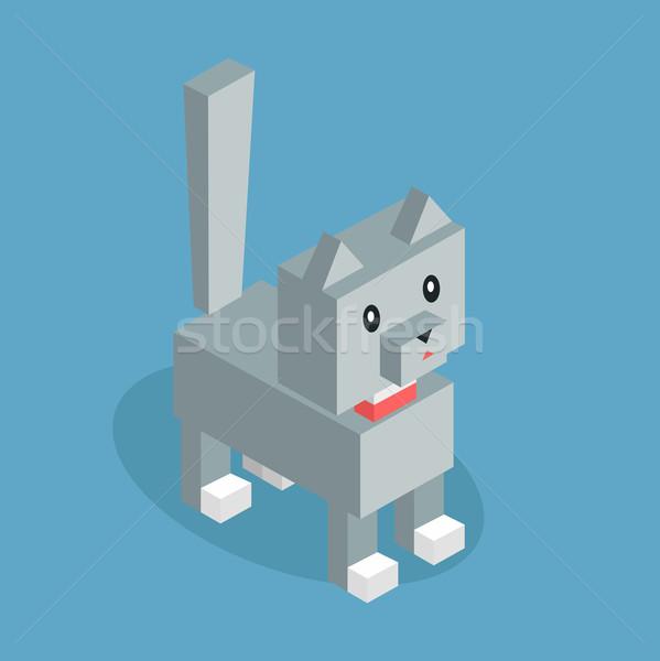 Animais de estimação gato ícone isométrica 3D projeto Foto stock © robuart