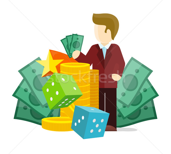 Gambling Concept Vector Flat style Illustration Stock photo © robuart