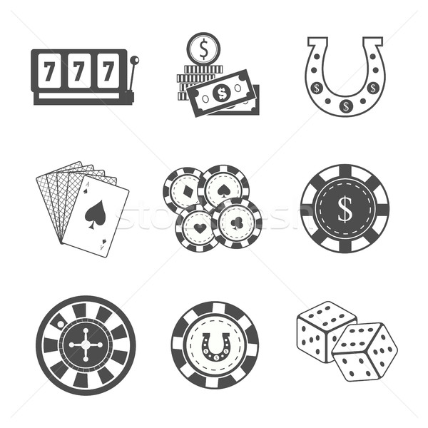 Set of Gambling Accessories Vector Illustrations. Stock photo © robuart