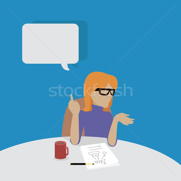 Young Businesswoman Thinking Stock photo © robuart