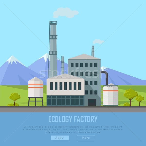 Ecology Factory Banner Stock photo © robuart