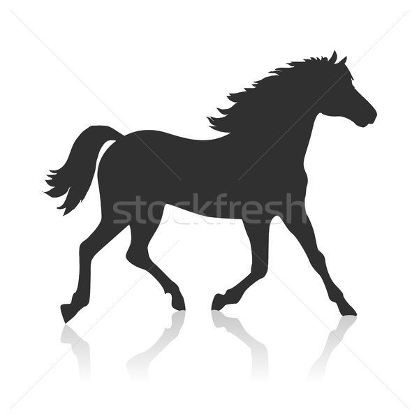 Horse Vector Illustration in Flat Design Stock photo © robuart
