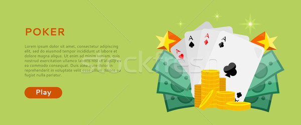 Pocker Online Games Dice Casino Banners Set Stock photo © robuart