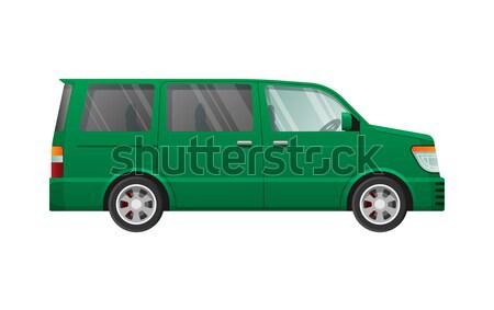 Geïsoleerd groene eenvoudige cartoon stijl Stockfoto © robuart