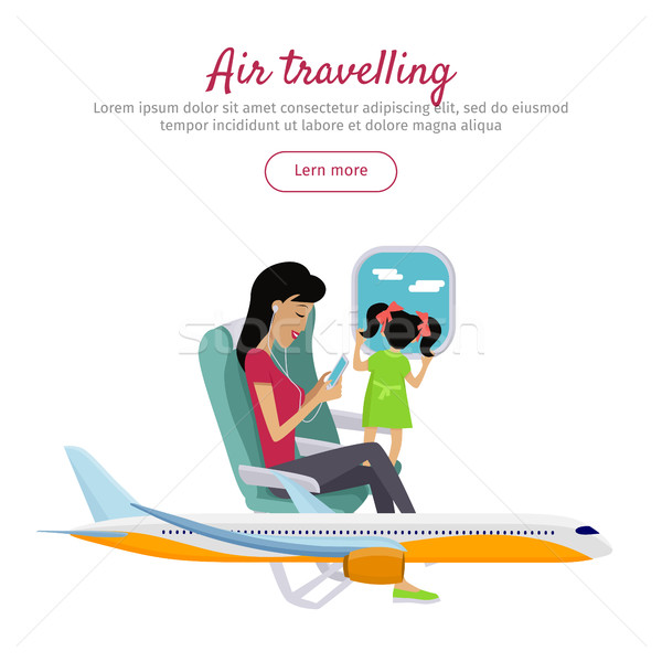 Air Travelling Conceptual Banner. Vector design Stock photo © robuart