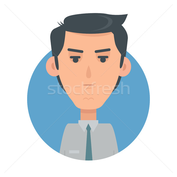человека лице эмоциональный вектор икона стиль икона Сток-фото © robuart