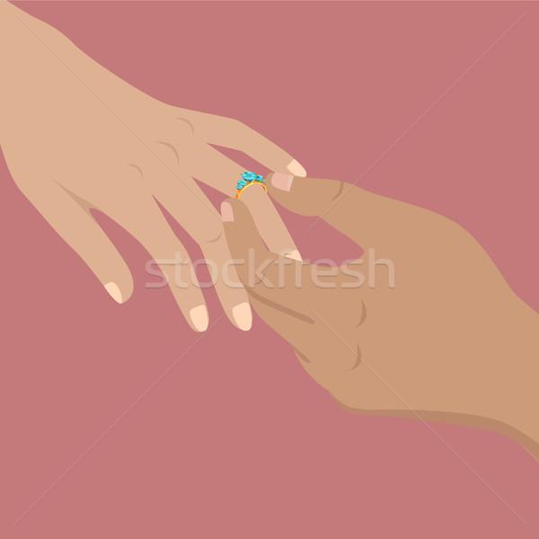 Propunere acord atingere moment ilustrare om Imagine de stoc © robuart