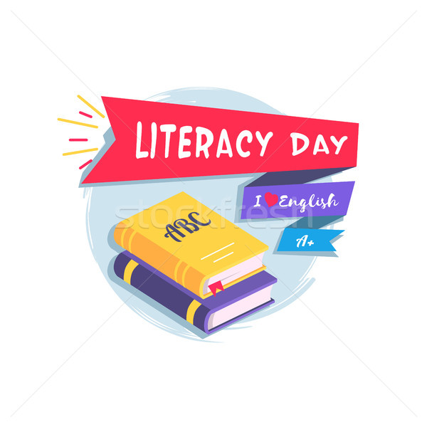 Literacy Day Colorful Vector Illustration Stock photo © robuart
