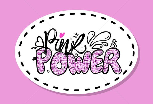 Rosa poder colorido graffiti decorado corazones Foto stock © robuart