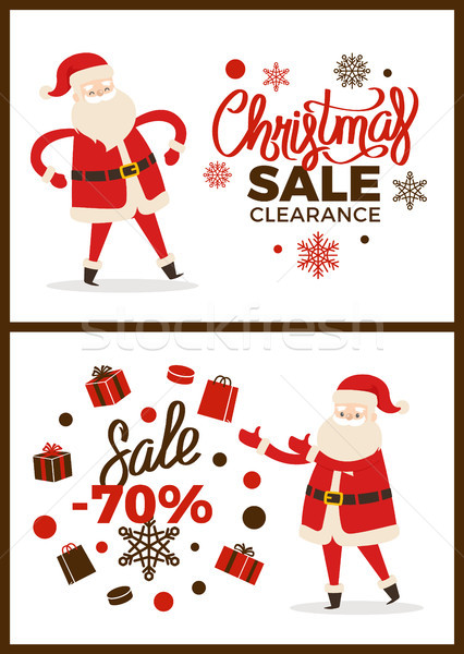 Karácsony vásár kiárusítás poszter főcímek ikonok Stock fotó © robuart