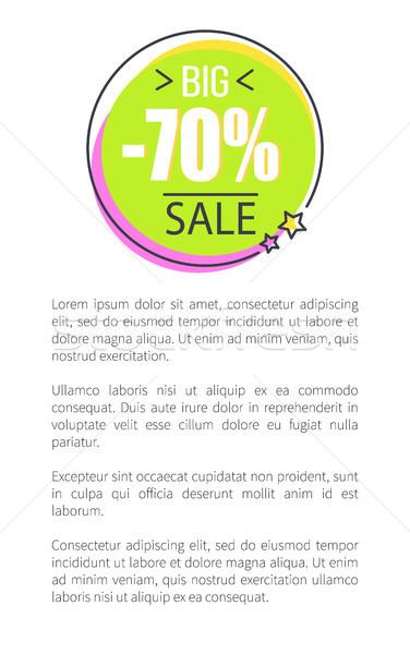 Foto stock: Grande · venda · promo · adesivo · círculo · preço