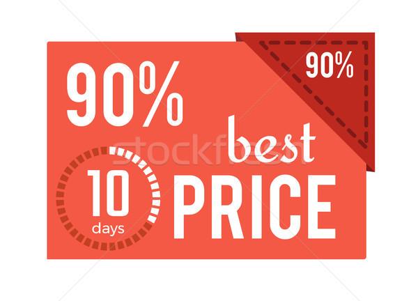 Beste prijs Rood label tekst opschrift afbeelding Stockfoto © robuart