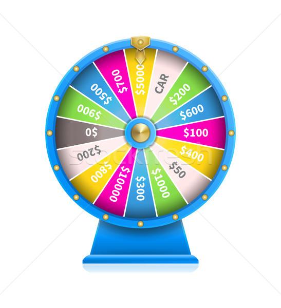 Wiel geluk automatisch gokken machine Blauw Stockfoto © robuart