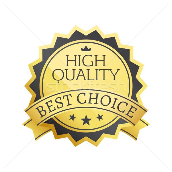 High Quality Best Choice Stamp Golden Label Reward Stock photo © robuart