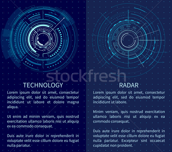 Technology Banner with Two Interface Patterns Stock photo © robuart