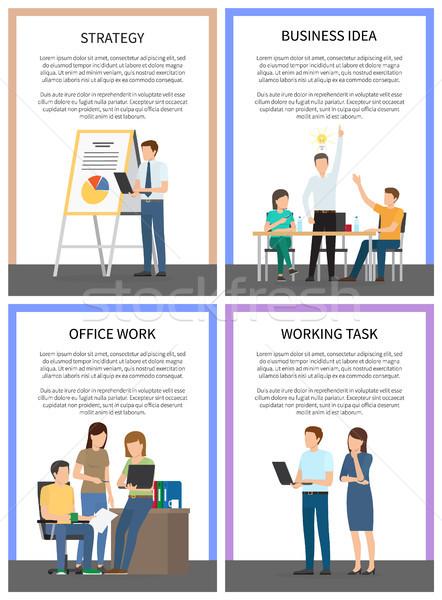 Negócio idéia estratégia trabalhando escritório tarefa Foto stock © robuart