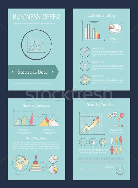 ビジネス 提供 効率 世界地図 データ 統計 ストックフォト © robuart