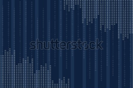 Blue Screen with Vertical Binary Programing Code Stock photo © robuart