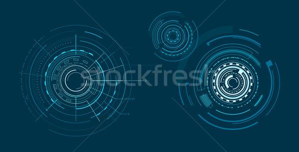 Set of Interfaces Isolated on Dark Blue Backdrop Stock photo © robuart