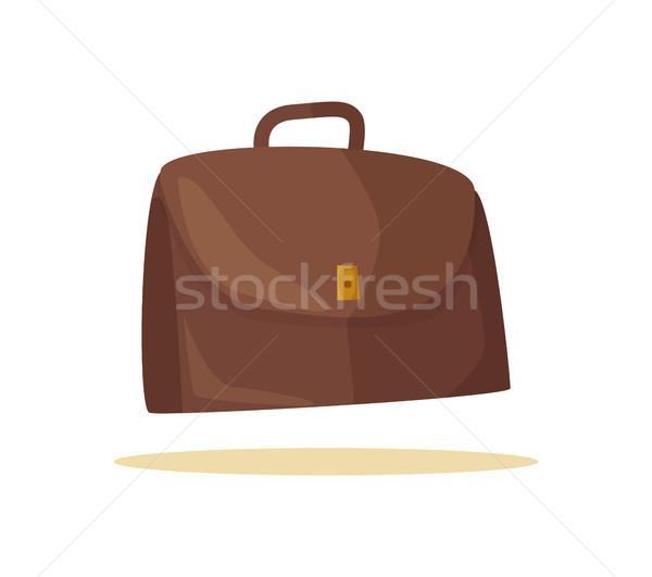 Pretty Brown Diplomat Banner Vector Illustration Stock photo © robuart
