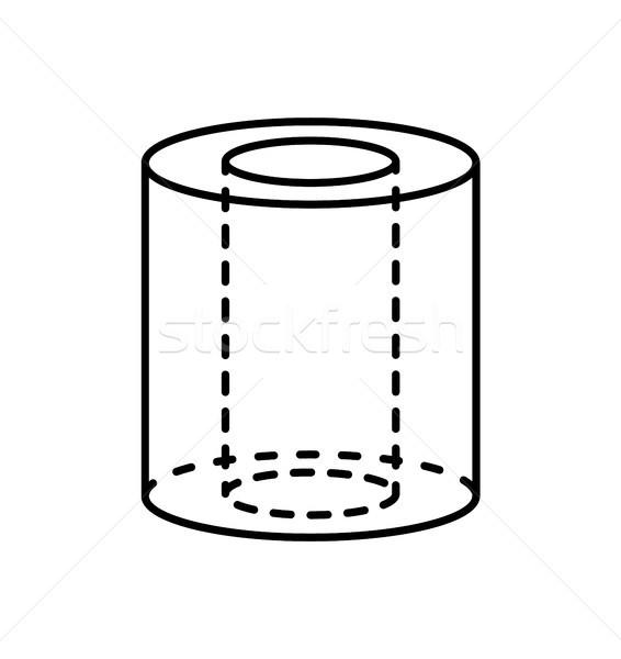 Fekete henger mértani alkat árnyék forma Stock fotó © robuart